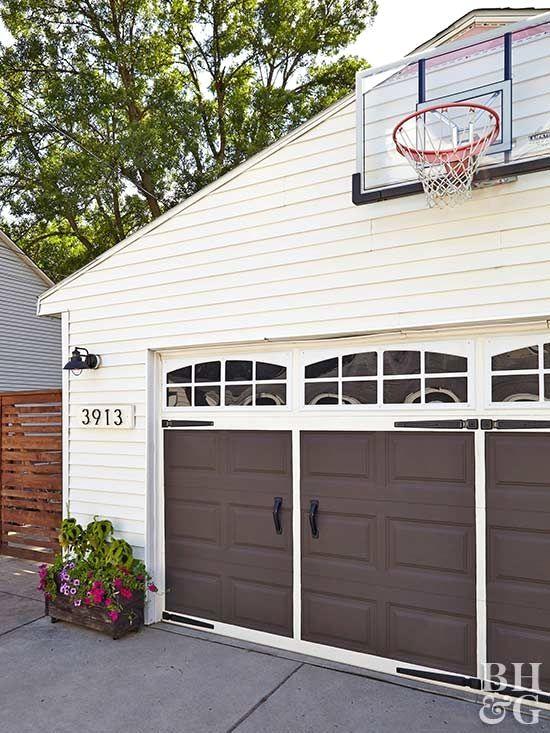 Grey Garage Door Ideas And Pics Of Garage Doors Lightweight Garageorganization Garagedoors Garage Garage Door Styles Brown Garage Door Garage Door Design