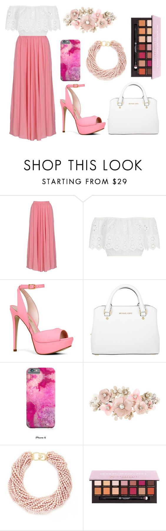 """""""Untitled #192"""" by co-co-setters ❤ liked on Polyvore featuring Miguelina, ALDO, Michael Kors, Accessorize, Kenneth Jay Lane and Anastasia Beverly Hills"""
