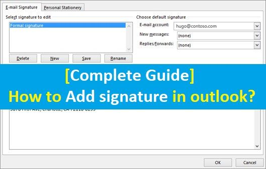 How To Add Signature In Office 365 Outlook Email In 2020 Outlook Email Ads Outlook