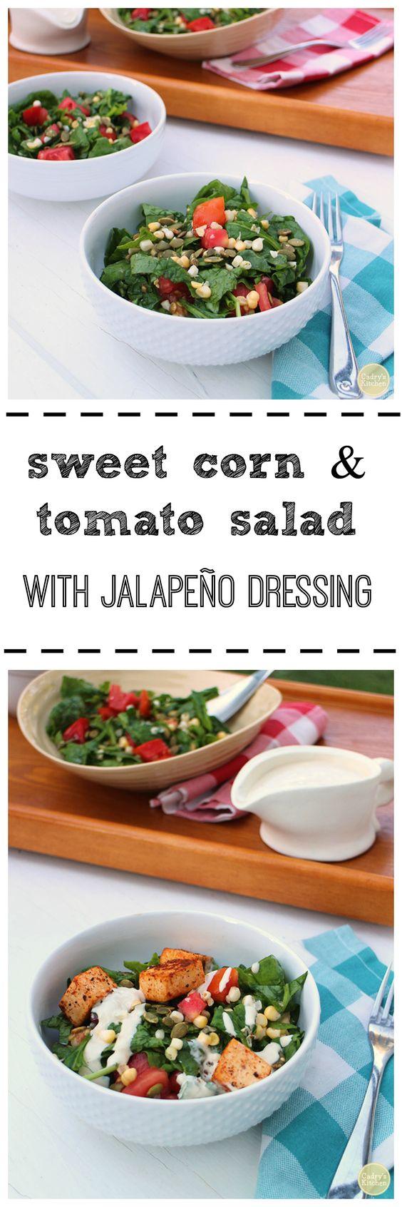 Corn tomato salad, Sweet corn and Tomato salad on Pinterest