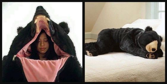 Someone Created A Bear Sleeping Bag For All Your Hibernation Needs-Like it says shut up and take my money!