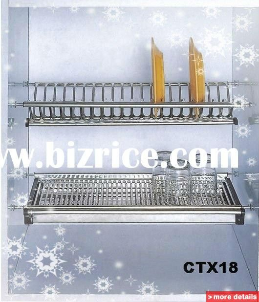 stainless steel/kitchen cabinet/wall mounted dish rack / China ...