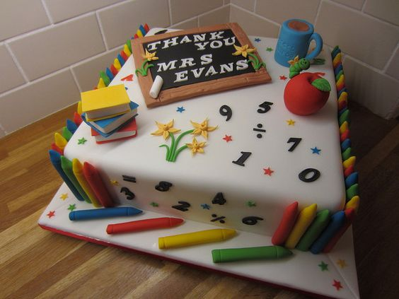 Best Cake Design Schools : School teacher cake cakes Pinterest Enseignants ...