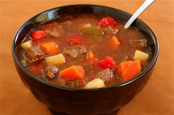 beef and vegetable soup....reminds me of mom:)