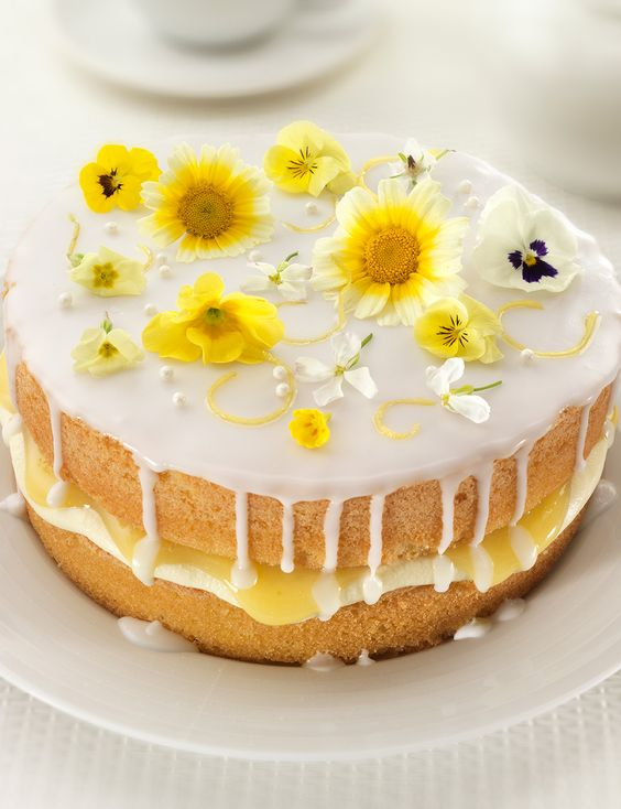Lemon and elderflower drizzle cake http://www.sainsburysmagazine.co.uk/recipes/baking/classics/item/lemon-and-elderflower-drizzle-cake