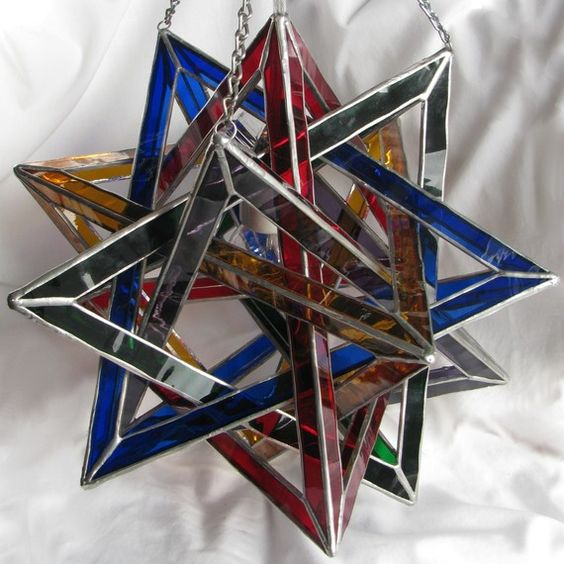 Sacred geometry stained glass lamp.