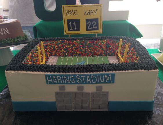 football stadium cake from Rosie's Creative cakes: