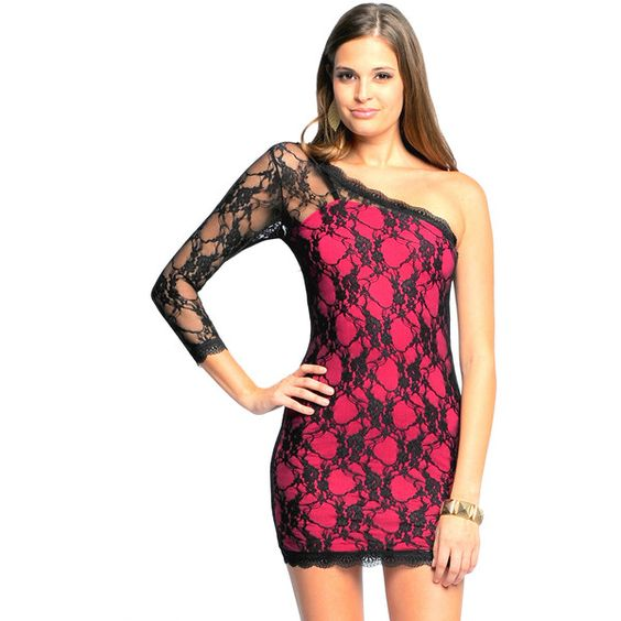 Sara Boo One Shoulder Allover Lace Dress 3375 Rsd Liked On