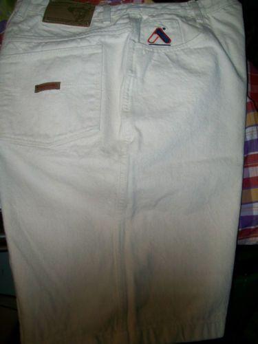W36 AKADEMIKS ivory color jean SHORTS