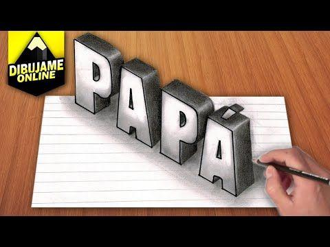 Como Dibujar La Palabra Papa En 3d Youtube Como Dibujar En 3d Dibujos 3d A Lapiz Dibujos Hechos A Lapiz