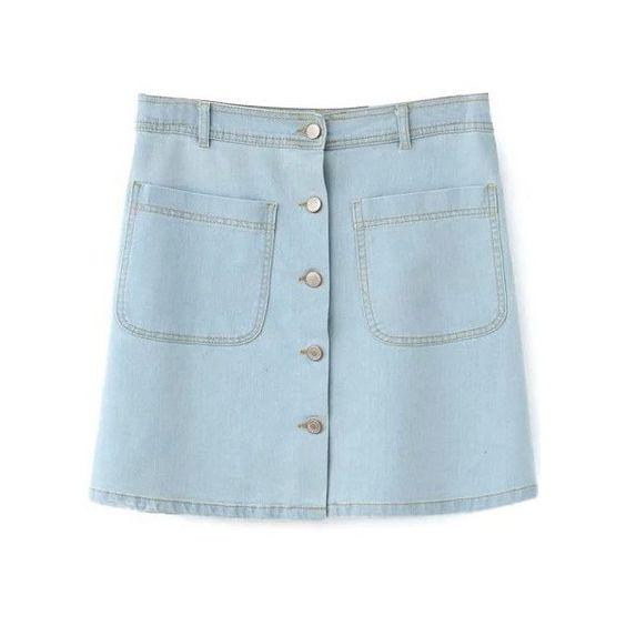 High waist, Light blue and High waisted skirt on Pinterest