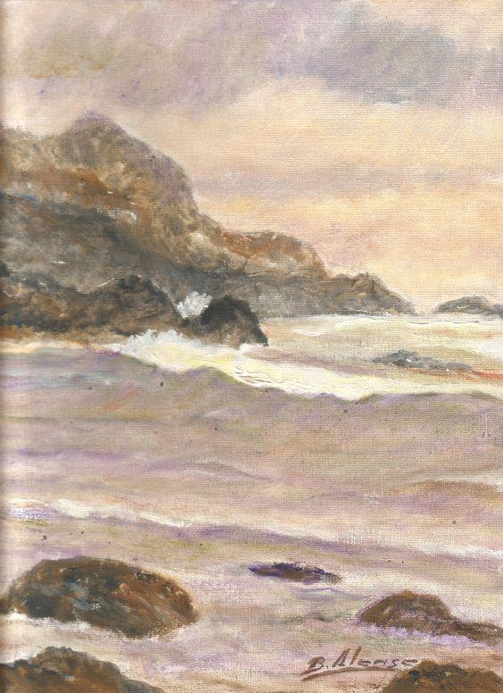 La belleza de la naturaleza, a veces, me desconcierta DESENCANTO    El mar es una inmensa ola y se acaricia a sí mismo elevando su silueta en la línea del horizonte. ¿Qué hay más allá?...
