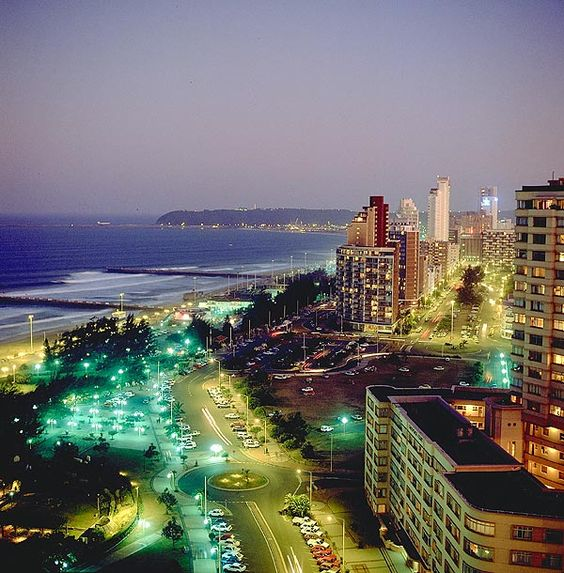 This is Durban, South Africa which is right on the coast and it is beautiful! The picture still does not do it justice. This is about an hour away from where my parents live.
