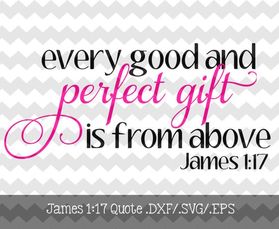 Every Good and Perfect Gift Design .dxf/.svg/.eps Files for use with your Silhouette Studio Software by KitaleighBoutique on Etsy https://www.etsy.com/listing/220676817/every-good-and-perfect-gift-design