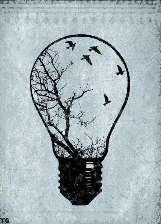 「birds in a light bulb」の画像検索結果