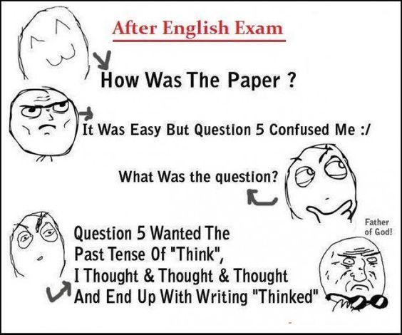 English exam dilemma?