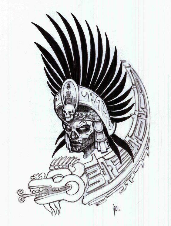 Aztec Warrior | Aztec Warrior Outlines Pictures
