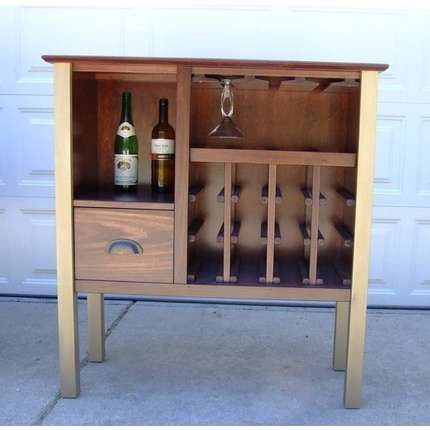 Wine Cabinet with under top glass rack