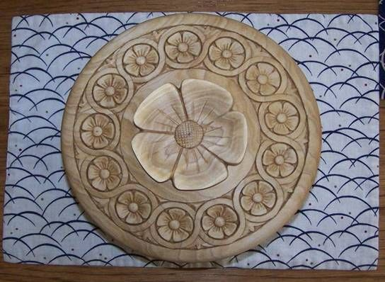 Carving a simple flower by p michael henderson
