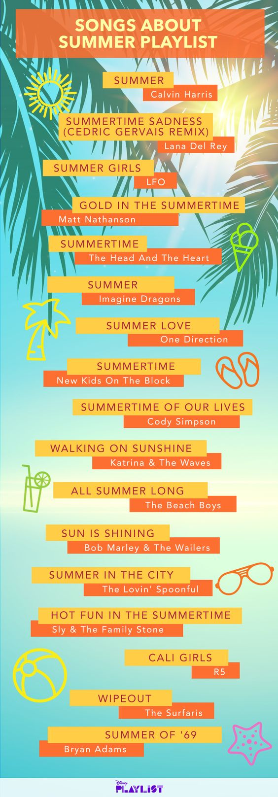 Relive Beach Days Gone By With Our Songs About Summer Playlist   Tracks   Disney Playlist