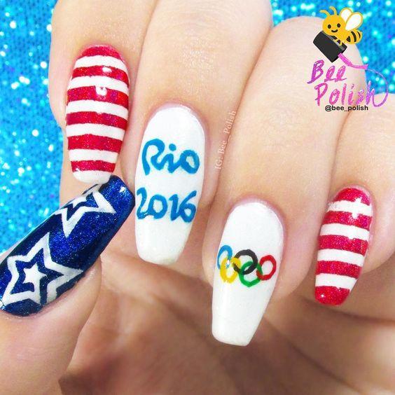 Summer Game Nail Art #Rio2016 #Olympic: