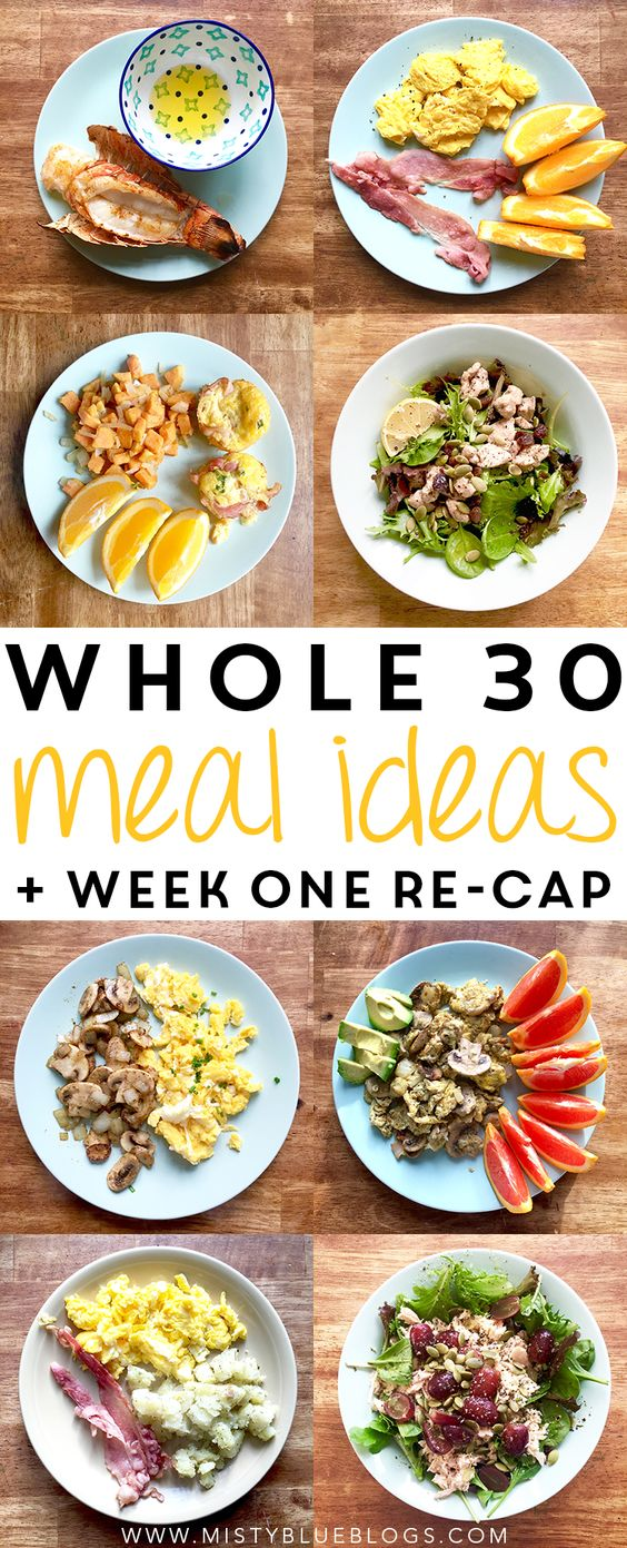 Week one of the Whole 30 challenge is complete! Here's a re-cap of how it went for me, plus some meal ideas.