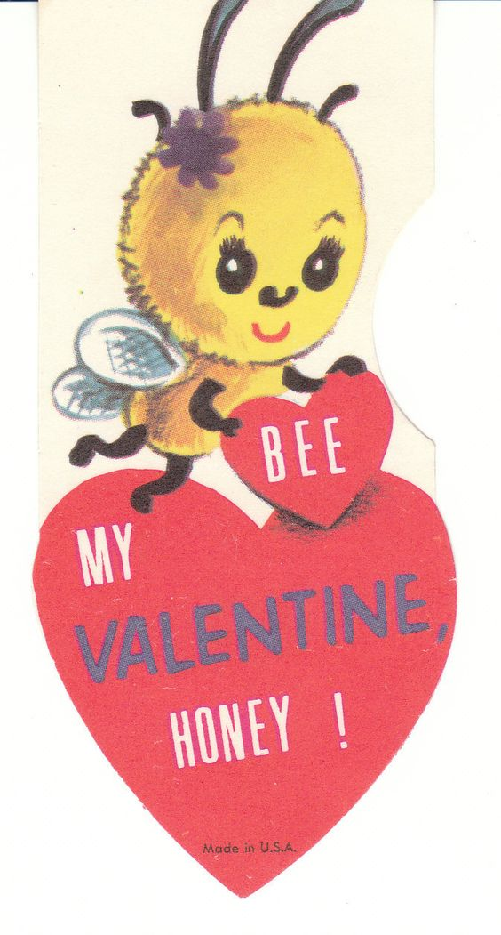 Bee My Valentine Vintage Card for Child – Bee My Valentine Card