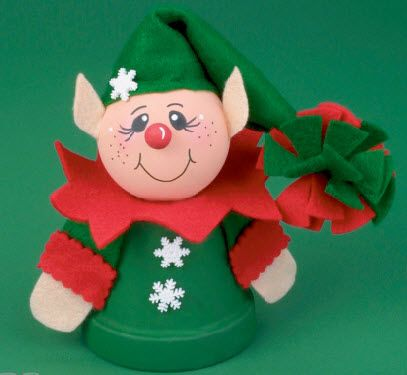 Shelves elves and clay pots on pinterest for Elf shelf craft show