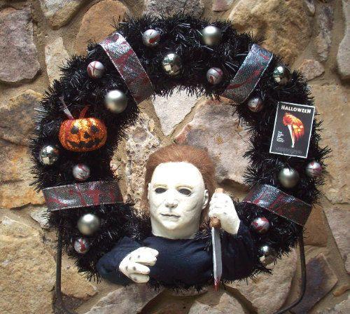 Slasher-HALLOWEENS-MICHAEL-MYERS-Lighted-Holiday-Wreath