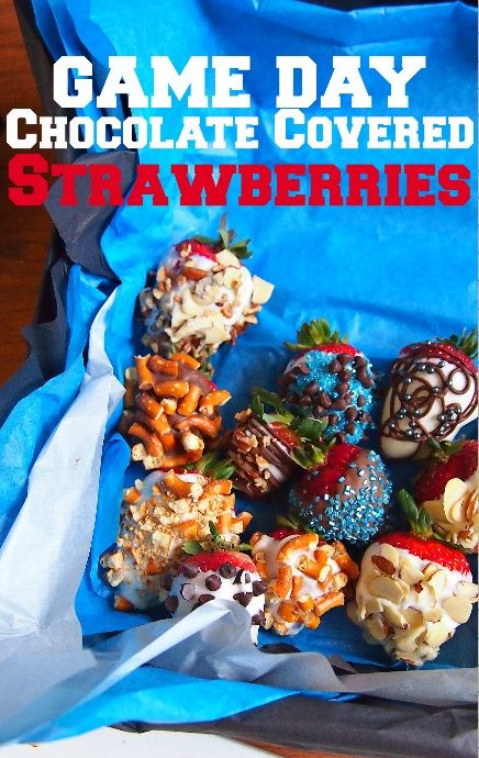 Easy & Quick Game Day Chocolate Covered Strawberries!