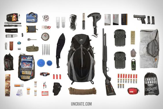 1 x Apocalypse bug out bag please. Everything that you need to survive and thrive in the Apocalypse, all stuffed conveniently into one pack.