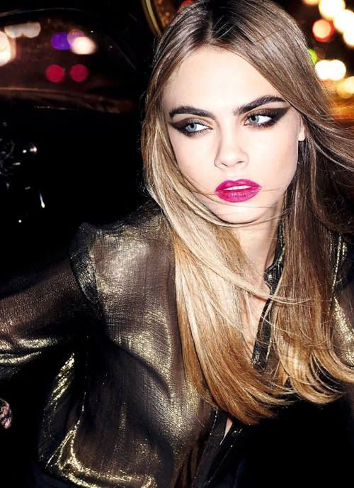 YSL Xmas-Look 2014 Wildly Gold with Cara as Visual