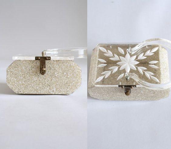 Vintage 50er Jahre Handtasche / 1950er Jahre von WhenDecadesCollide, $178.00