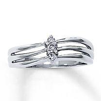 Super Value! 1/10 Carat t.w. Diamond Promise Ring
