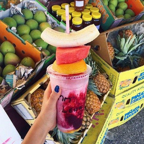 vitamina deliciosa para os dias de calor ♥