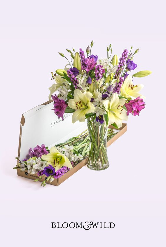 This fun, fresh cocktail of flowers is bursting with blazing star liatris, alstroemeria, lisianthus and lilies. It's bold, bright and makes a great gift for the life and soul of the party. Fresh flowers delivered through the post and through the letterbox. Our bouquets start at £20 with free next day delivery across the UK.