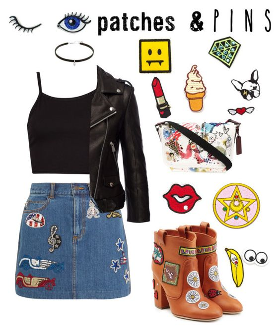 """Patches&Pins"" by outfitonpointsl on Polyvore featuring Marc Jacobs, Anine Bing, Laurence Dacade and patchesandpins"