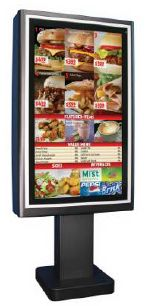 Drive Thru Digital Signage Enclosure Protecting Digital Menu Networks