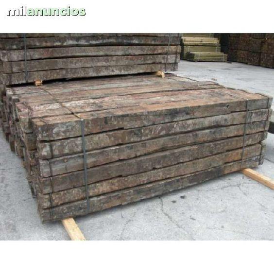Se venden traviesas de tren de madera estan perfecto - Traviesas de madera ...