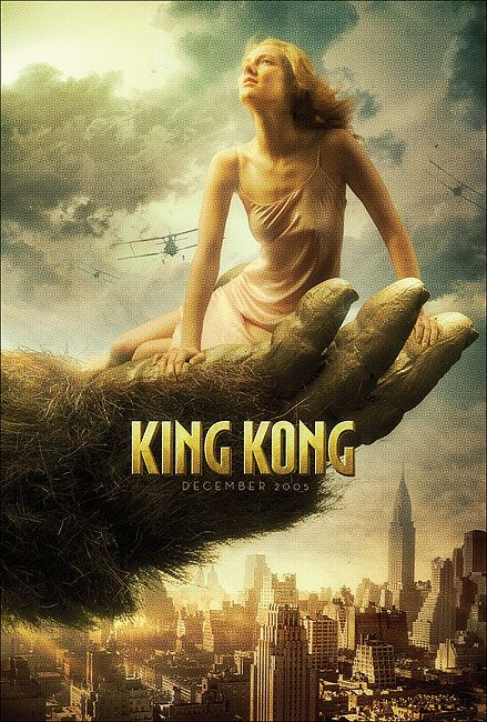 king kong 2005 movie poster art pinterest awesome