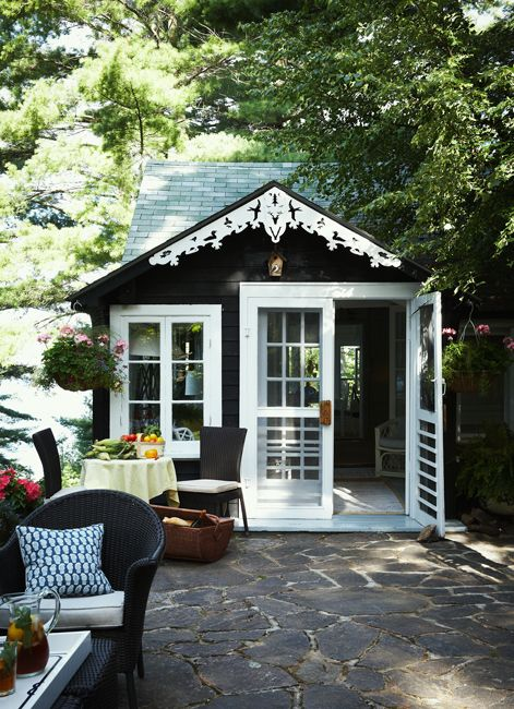 Scandinavian style michael o 39 keefe and cottages on pinterest for Backyard guest cottage