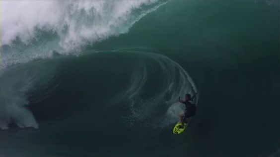 BIGGEST TEAHUPOO EVER SHOT ON THE PHANTOM CAMERA Surfing Videos - Guys sets himself on fire before surfing a huge wave