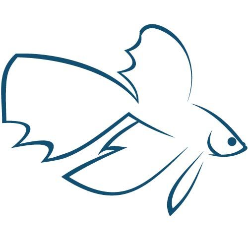 Betta Fish Logo By Katlyn Thompson Ikan Cupang Ikan Gambar