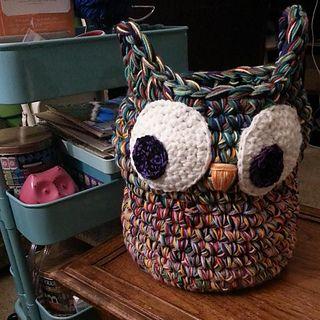 Jumbo Owl Basket...link to pattern! ༺✿ƬⱤღ✿༻