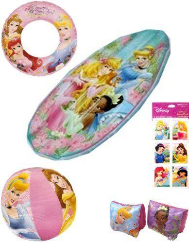 Disney princess pool toys 5 pieces disney princess for Princess float ideas