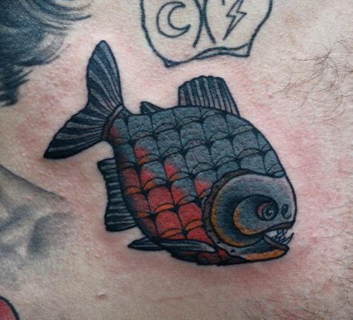 Piranha skeleton tattoo - photo#28