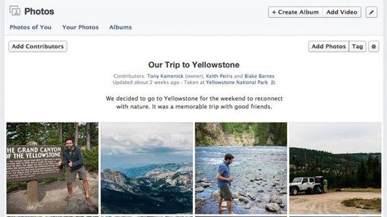 Facebook agrega la opción de álbumes de fotos colaborativos.