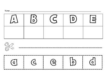 Letter Matching Cut and Paste | Letters and Sounds | Pinterest ...