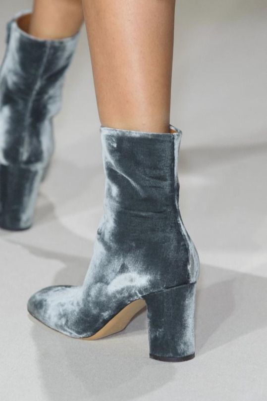 velvet boots #shoes #runway   @andwhatelse
