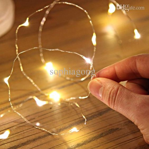1M10leds 1.5M15leds 2M20leds 3M30leds Submersible Coin Battery Led Copper Wire String Lights ...
